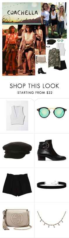 """""""Outfit #782 Nina Dobrev"""" by nmr135 ❤ liked on Polyvore featuring Billabong, Gucci, Chloé, 2028, Faith Connexion, StreetStyle, Chanel, NinaDobrev, coachella and nmr"""