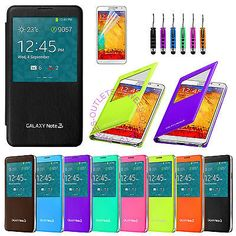 Luxury Flip S-VIEW Leather Case Cover for Samsung GALAXY NOTE 3 III N9000 N9005