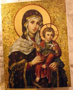 (5) Gallery.ru / Photo # 48 - ukraїnska іkona - gal65 Blessed Mother Mary, Blessed Virgin Mary, Religious Icons, Religious Art, Spiritual Retreats, Jesus Father, Queen Of Heaven, Mama Mary, Religious Paintings