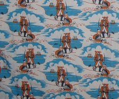 vintage fabric pirates