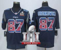 NikePatriots  87  Rob  Gronkowski Navy Blue Team Color Super Bowl LI 51. New  England Patriots ... 2240776b9