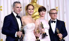 Daniel Day-Lewis, Jennifer Lawrence, Anne Hathaway, Christoph Waltz - 85th Academy Awards, 2013