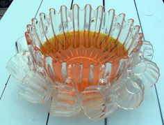 Vintage 60's Glass Punch Bowl Set. $70.00, via Etsy.