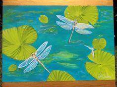 Dancing dragon flys on 50cm x70cm canvas ready to hang for SALE. $250 (www.artonpartridge.wix.com/artist ) Animal Paintings, Original Artwork, Dragon, Canvas, Art Work, Artist, Dancing, Animals, Check