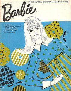 1966 Barbie Mattel Magazine  - retro design