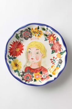 Nathalie Lete Petite Fille Dinner Plate | Anthropologie.eu