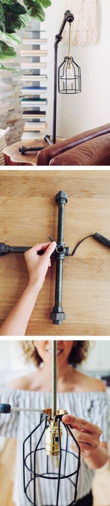 22 Creative DIY Pipe Lamp Ideas That Are Unique