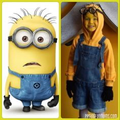 Minion costume- Hunter and me!  sc 1 st  Pinterest & 15 DIY Couples and Family Halloween Costumes | Halloween costumes ...