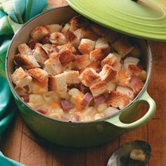 Creamy Corned Beef Casserole Recipe  I used a can of corned beef hash and shredded cheese instead of cubed cheese.