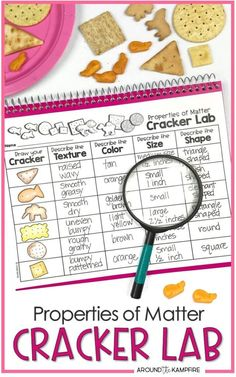 Properties of matter cracker lab activity for students learning to observe and describe matter. Ideal for grade science and NGSS Structure and Properties of Matter standards and a fun science experiment that kids can eat!