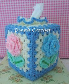 porta pañuelos tejidos a crochet klenex - Buscar con Google