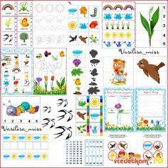 Большой набор весенних дидактических игр для детей