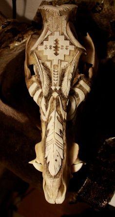 carved deer skull - Google Search