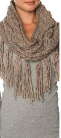 fringey scarves are a good look for fall