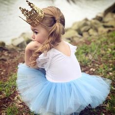 Little beauty wears our petite ballerina Play Suit with sleeves in blue � You can custom choose the tutu color  #bellethreadsloveslace  #bellethreads