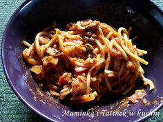 Maminka i Tatinek w kuchni: Spaghetti jednogarnkowe