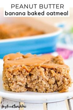 This Healthy Peanut Butter Banana Baked Oatmeal is the perfect make-ahead breakfast recipe! It's gluten-free, dairy-free, & vegan-friendly with no refined sugar! Fun Baking Recipes, Dairy Free Recipes, Cooking Recipes, Baked Oatmeal Recipes, Banana Recipes, Healthy Peanut Butter, Peanut Butter Banana, Low Carb Breakfast, Banana Breakfast
