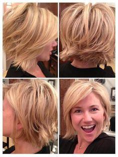 Image result for choppy bob haircut for fine hair