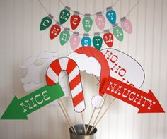 Christmas Photo Booth Props DIY Printable download pdf  & print. $9.95, via Etsy.
