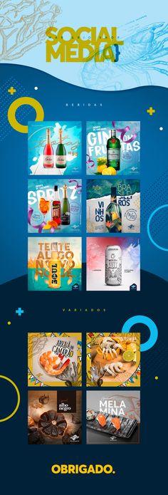Social Media - Mar & Rio Shop on Behance Social Media Art, Social Media Poster, Social Media Branding, Social Media Banner, Social Media Template, Social Media Design, Food Graphic Design, Web Design, Graphic Design Posters