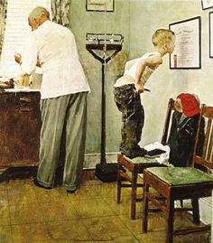 My pediatrician had this one on his wall. The painting that made me fall in love with Norman Rockwell, and his ability to tell a story through art...
