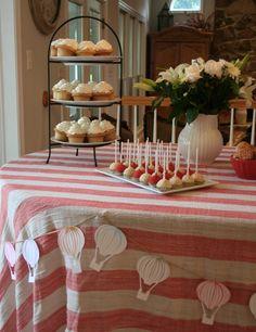 Hot Air Balloon Baby Shower decor: Thebackdropshopblog.com
