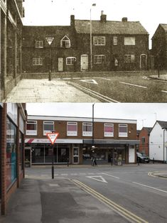 Cottages at Randall Road junction, 1971 Coventry, Then And Now, Cottages, 1970s, Past, Scale, Photographs, Street View, Paintings