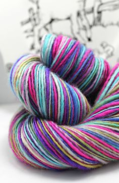 Handspun Yarn Gently Thick and Thin DK Single by SheepingBeauty, $32.00