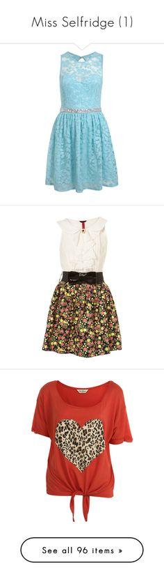 """Miss Selfridge (1)"" by brittneysaysrawrrr ❤ liked on Polyvore featuring dresses, vestidos, short dresses, blue dresses, mint green, mini dress, sequin dresses, mint green lace dress, mint blue dress and lace mini dress"