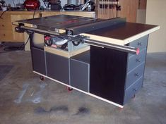 Table Saw Workstation Plans | Table saw work station