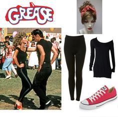 grease costume ideas - Google Search  sc 1 st  Pinterest & How to: Cheap DIY Sandy from grease Halloween costume