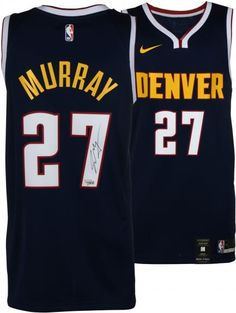56ae82df8 Jamal Murray Denver Nuggets Autographed Nike Navy Swingman Jersey Denver  Nuggets, Basketball Jersey, Basketball