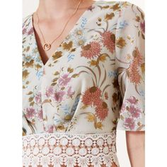 Miss Selfridge Floral Devore Angel Sleeve Tee ($53) ❤ liked on Polyvore featuring tops, t-shirts, angel sleeve, crop, assorted, sleeve t shirt, crop top, sleeve tee, wrap top and floral sleeve t shirt