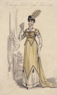 Full evening dress, June 1809, La Belle Assemblée