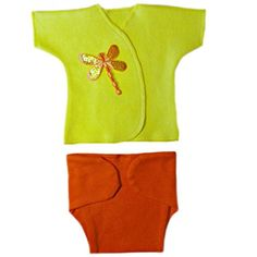 Jacquis Baby Girls Orange Dragonfly Diaper Set Micro Preemie >>> Learn more by visiting the image link.