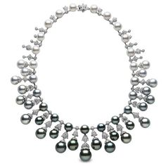black pearls yoko london necklace