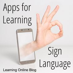 Learning sign language is easy to do with these apps for IOS and Android devices.