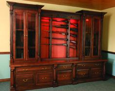 Custom Gun Cabinets | GunSafe - Amish Custom Gun Cabinets - Custom Gun Cabinet…