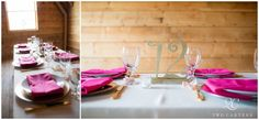 Pratt Place Inn and Barn Wedding Photography Fayetteville Arkansas_1312 | #kfb_events #rentals | raspberry wedding theme | wedding table place setting | raspberry and gold