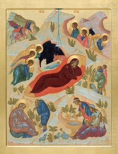 Over 600 hand-painted Orthodox icons to order from the Catalog of St Elisabeth Convent. Commission a painted icon of Christ, the Mother of God, Orthodox saints and Feasts Orthodox Prayers, Prayer Corner, Paint Icon, Hand Carved, Hand Painted, The Birth Of Christ, Christmas Icons, Painting Studio, Orthodox Icons