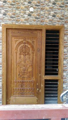 House Main Door Design, Pooja Door Design, Single Door Design, Main Entrance Door Design, Door Gate Design, Door Design Interior, Wooden Ceiling Design, Wooden Front Door Design, Chair Design Wooden