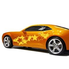 Style and Apply Stars Car Decal Vinyl Wall Art Home Decor (Yellow 59in x 22in), Orange (Lead)