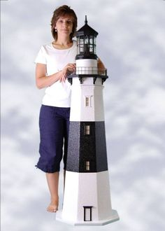 pictures of lighthouses in yards | Custom Crafted Montauk Lawn Lighthouse