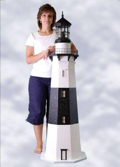 Custom Crafted Montauk Lawn Lighthouse