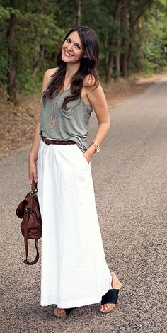 Maxi skirts and tanks