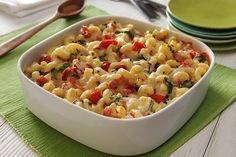 Macaroni & Cheese with Roasted Tomatoes, Bacon & Basil
