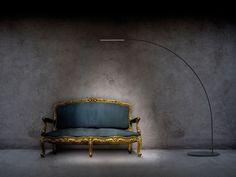 Lampadaire pour éclairage direct YUMI by FontanaArte | design Shigeru Ban