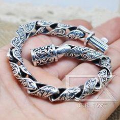Braided Bracelets, Metal Bracelets, Bracelets For Men, Fashion Bracelets, Diamond Bracelets, Fashion Jewelry, Bangles, Mens Silver Jewelry, Sterling Silver Bracelets
