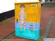 kunstkast bob van den heuvel Urban Street Art, Box Art, Den, Holland, Painting, Dutch Netherlands, Painting Art, Netherlands, Paintings