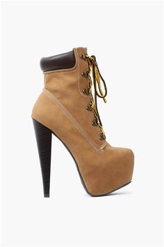 Camel Colored Worker Boot with Heels!